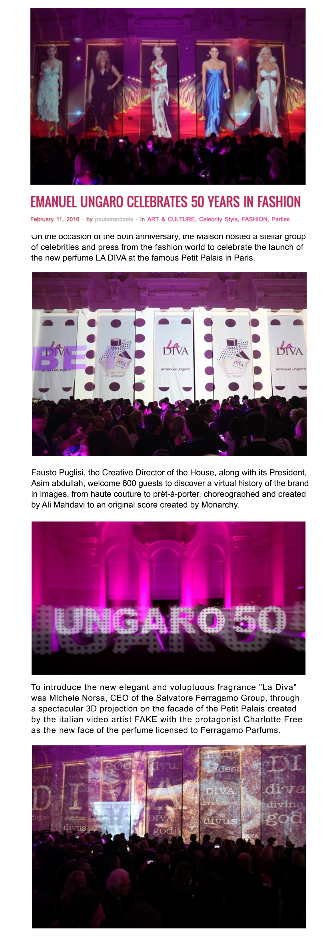 UNGARO 50 website