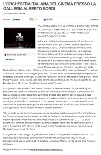 STEFANO FAKE_ORCHESTRA ITALIANA DEL CINEMA - GALLERIA ALBERO SORDI 01