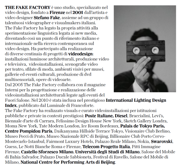 STEFANO FAKE and THE FAKE FACTORY