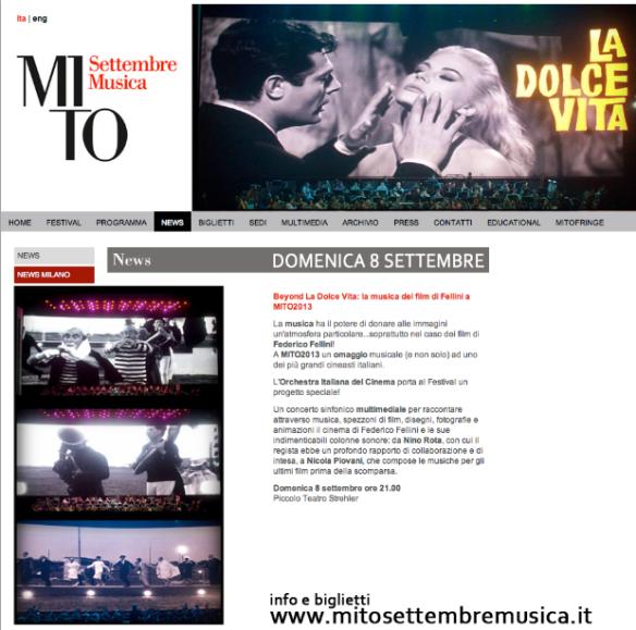 FESTIVAL MITO MILANO