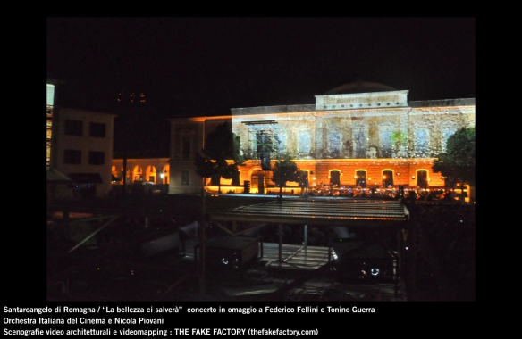 the fake factory videomapping concerto santarcangelo Federico Fellini Tonino Guerra_00005