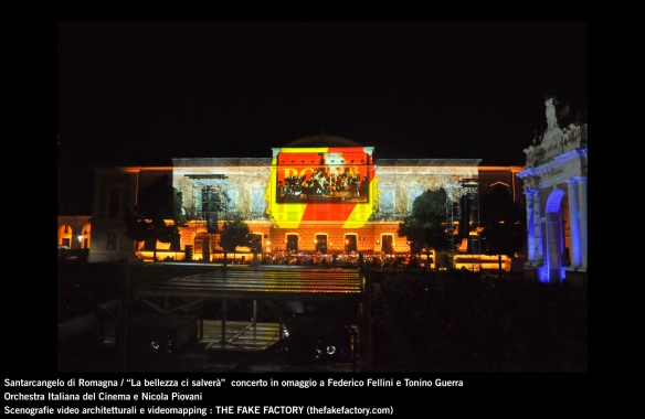the fake factory videomapping concerto santarcangelo Federico Fellini Tonino Guerra_00007