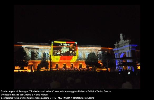 the fake factory videomapping concerto santarcangelo Federico Fellini Tonino Guerra_00010