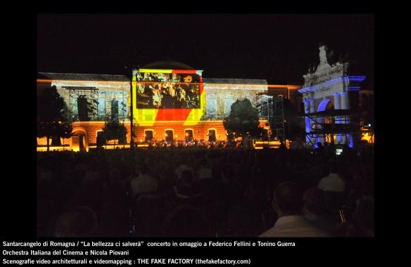 the fake factory videomapping concerto santarcangelo Federico Fellini Tonino Guerra_00011
