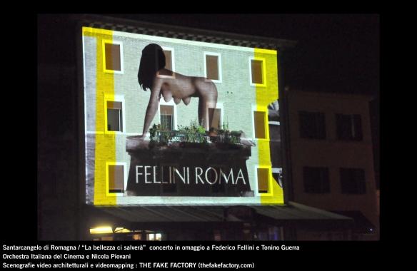 the fake factory videomapping concerto santarcangelo Federico Fellini Tonino Guerra_00013