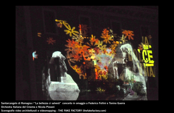 the fake factory videomapping concerto santarcangelo Federico Fellini Tonino Guerra_00018