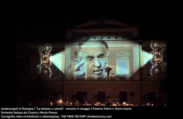 the fake factory videomapping concerto santarcangelo Federico Fellini Tonino Guerra_00021