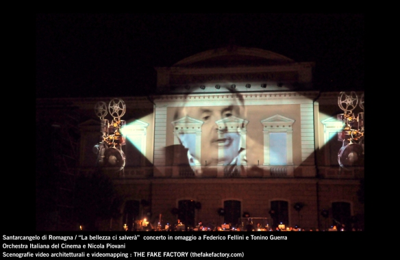 the fake factory videomapping concerto santarcangelo Federico Fellini Tonino Guerra_00022