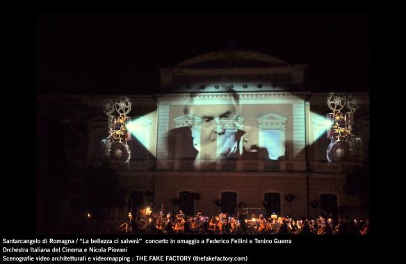 the fake factory videomapping concerto santarcangelo Federico Fellini Tonino Guerra_00023
