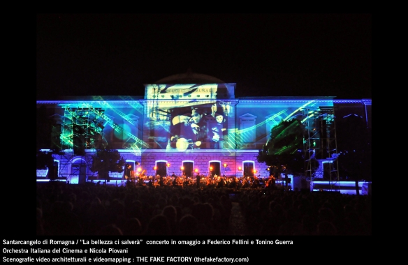 the fake factory videomapping concerto santarcangelo Federico Fellini Tonino Guerra_00029