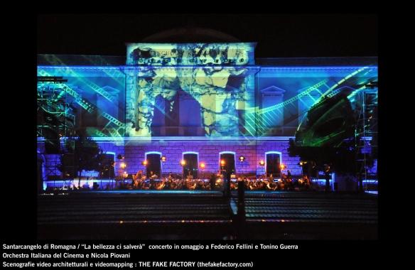 the fake factory videomapping concerto santarcangelo Federico Fellini Tonino Guerra_00036