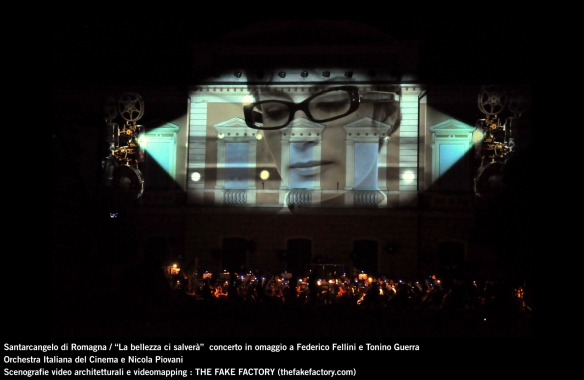 the fake factory videomapping concerto santarcangelo Federico Fellini Tonino Guerra_00053