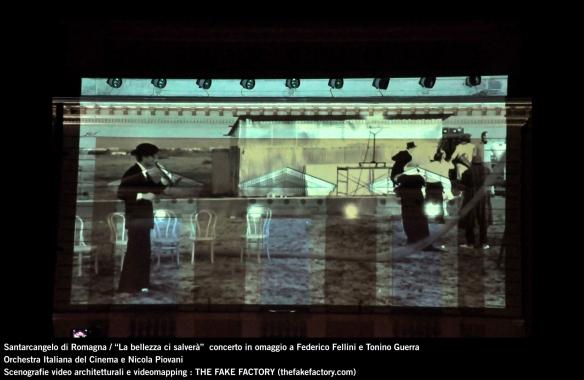 the fake factory videomapping concerto santarcangelo Federico Fellini Tonino Guerra_00056