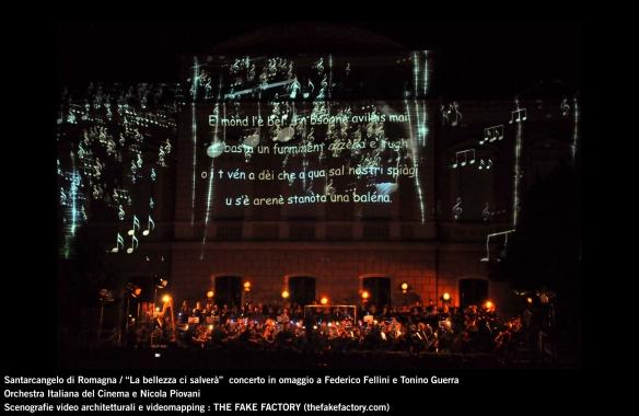 the fake factory videomapping concerto santarcangelo Federico Fellini Tonino Guerra_00060