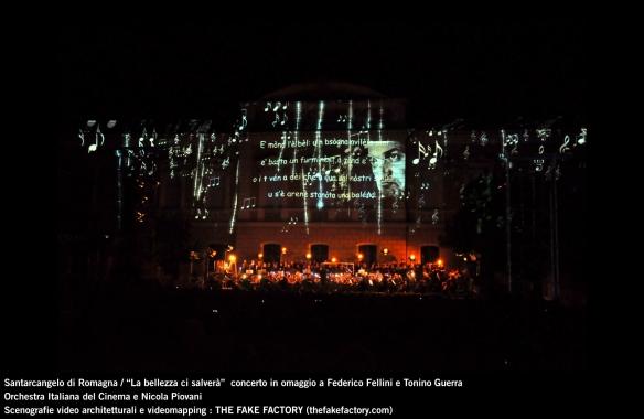 the fake factory videomapping concerto santarcangelo Federico Fellini Tonino Guerra_00061