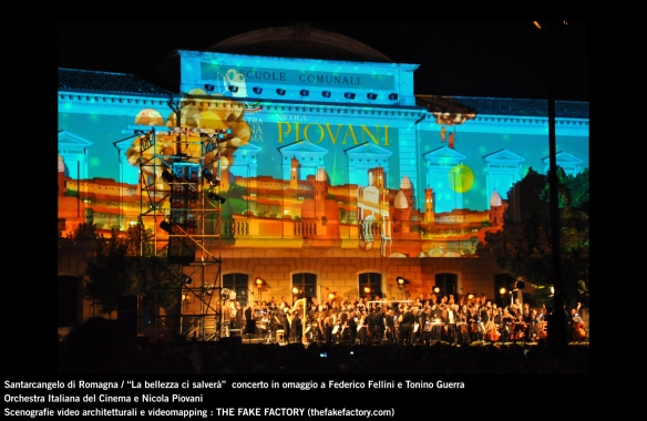 the fake factory videomapping concerto santarcangelo Federico Fellini Tonino Guerra_00078