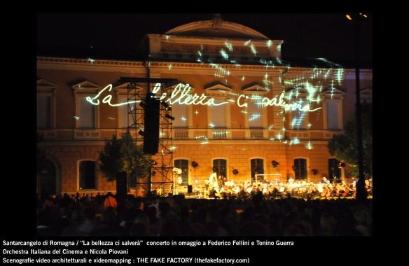 the fake factory videomapping concerto santarcangelo Federico Fellini Tonino Guerra_00080