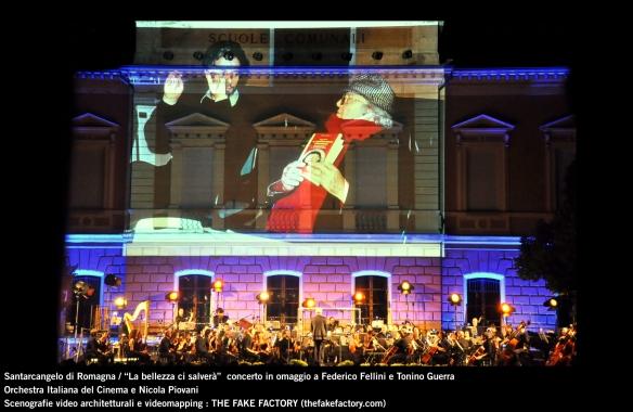 the fake factory videomapping concerto santarcangelo Federico Fellini Tonino Guerra_00093