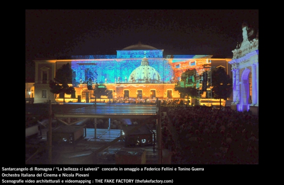 the fake factory videomapping concerto santarcangelo Federico Fellini Tonino Guerra_00095