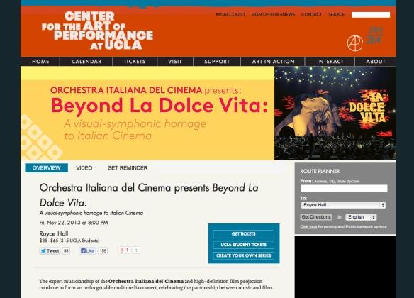 ORCHESTRA ITALIANA DEL CINEMA beyond LA DOLCE VITA