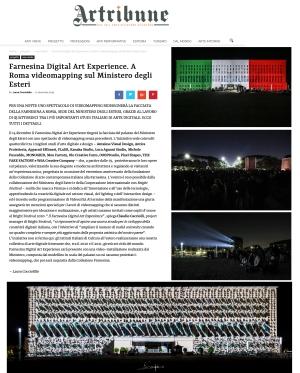 art tribune farnesina digital art experience
