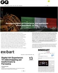 exibart GQ farnesina digital art experience