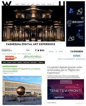 WU STAMPA roma farnesina digital art experience